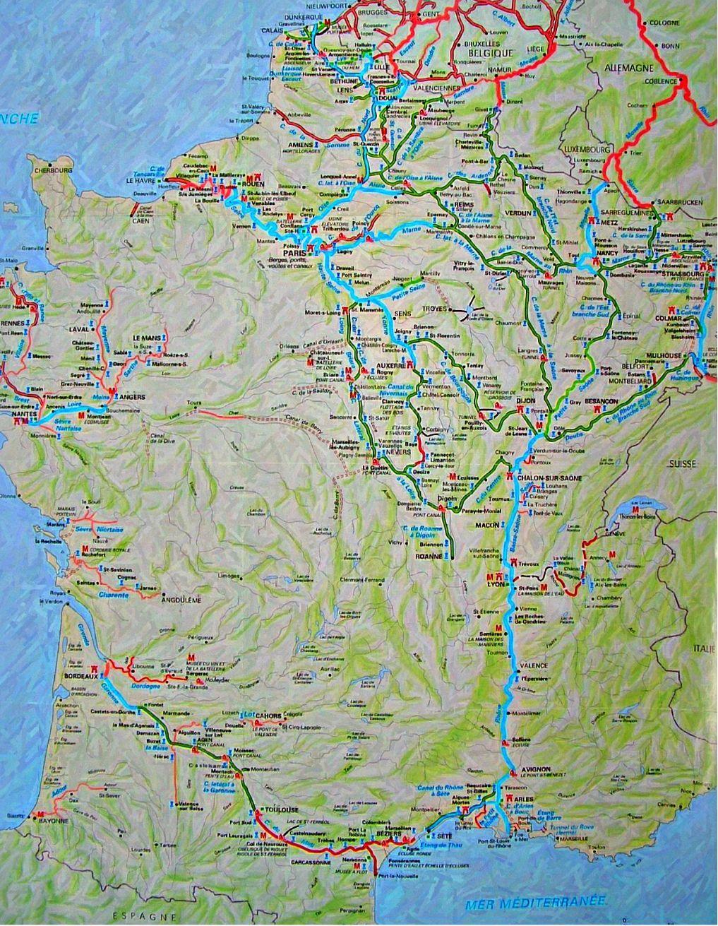 French Waterway Maps Contentedsouls - World waterways map